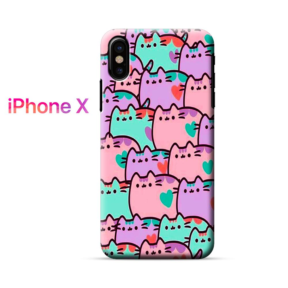 Pusheen Cats Colors iPhone X Case