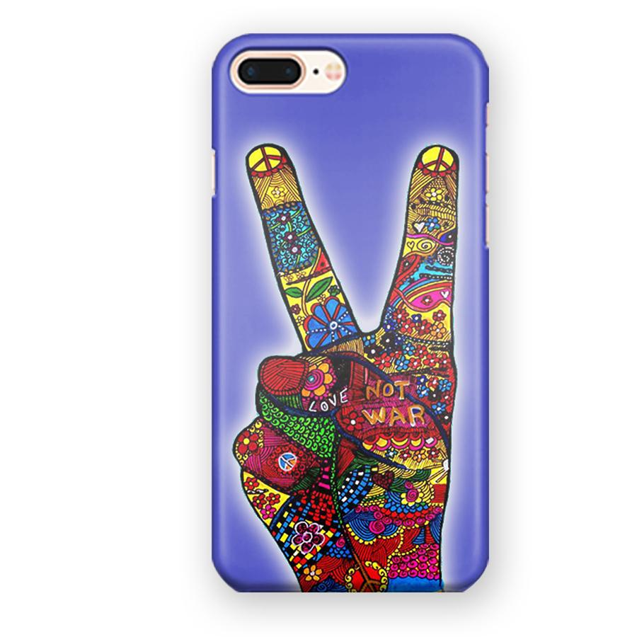1960s Peace Symbols Hippie Art iPhone 7 Plus / 8 Plus Case