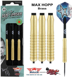Max Hopp Steel Tip Dart Set-Brass - Shot Darts New Zealand