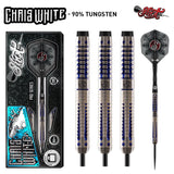 Shot Pro Series-Chris White Steel Tip Dart Set-90% Tungsten Barrels - Shot Darts New Zealand