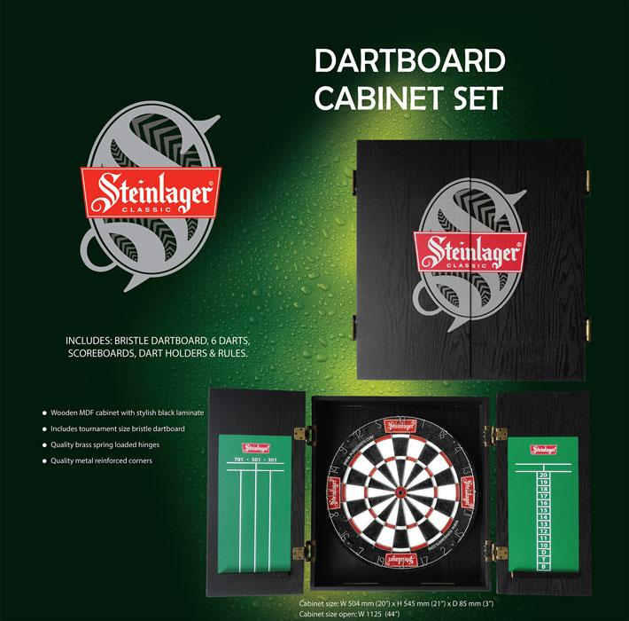 Steinlager Cabinet Set - Shot Darts New Zealand