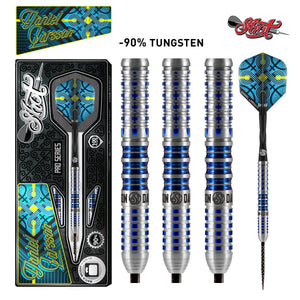 Shot Pro Series-Daniel Larsson Steel Tip Dart Set-90% Tungsten Barrels