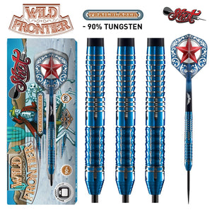 Wild Frontier Trailblazer Steel Tip Dart Set-90% Tungsten Barrels - Shot Darts
