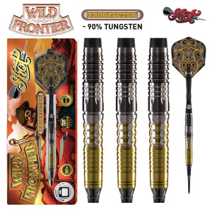Wild Frontier Prospector Soft Tip Dart Set-90% Tungsten Barrels - Shot Darts New Zealand