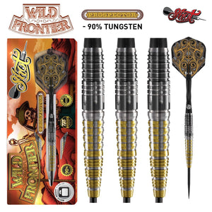 Wild Frontier Prospector Steel Tip Dart Set-90% Tungsten Barrels - Shot Darts New Zealand