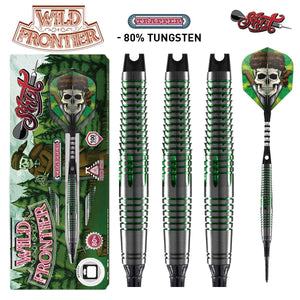 Wild Frontier Trapper Soft Tip Dart Set-80% Tungsten Barrels - Shot Darts New Zealand