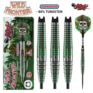 Wild Frontier Trapper Steel Tip Dart Set-80% Tungsten Barrels - Shot Darts New Zealand