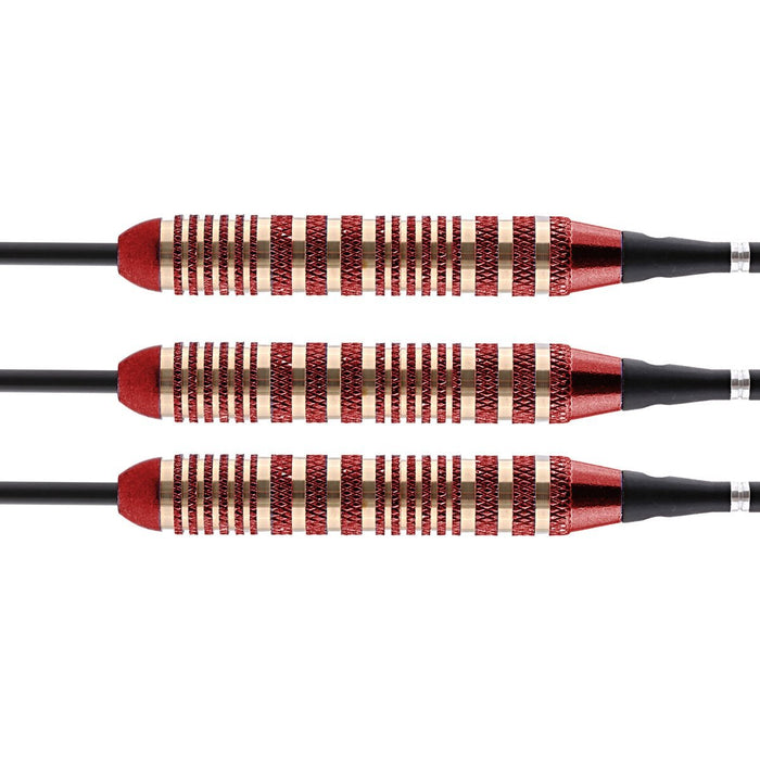 Mystic Red Steel Tip Dart Set-Colour Plated Brass Barrels - Shot Darts New Zealand