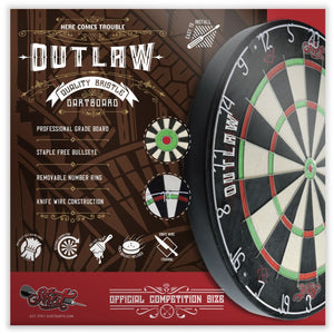 Outlaw Bristle Dartboard - Shot Darts New Zealand