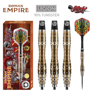 Roman Empire Legion Steel Tip Dart Set-90% Tungsten Barrels - Shot Darts New Zealand