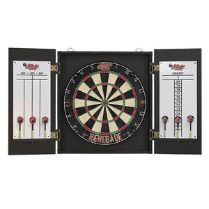 Renegade Dartboard & Cabinet Set - Shot Darts New Zealand