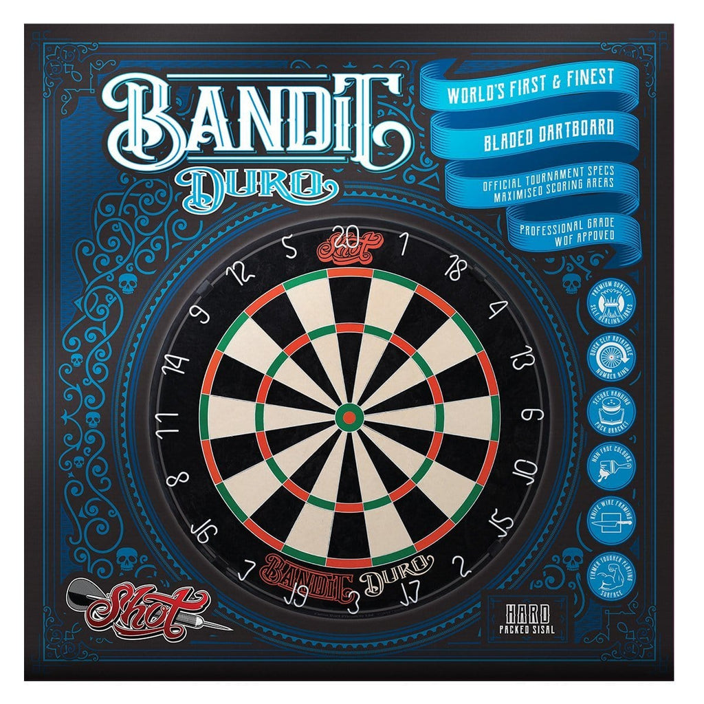 Shot Bandit Duro Bristle Dartboard - Shot Darts New Zealand