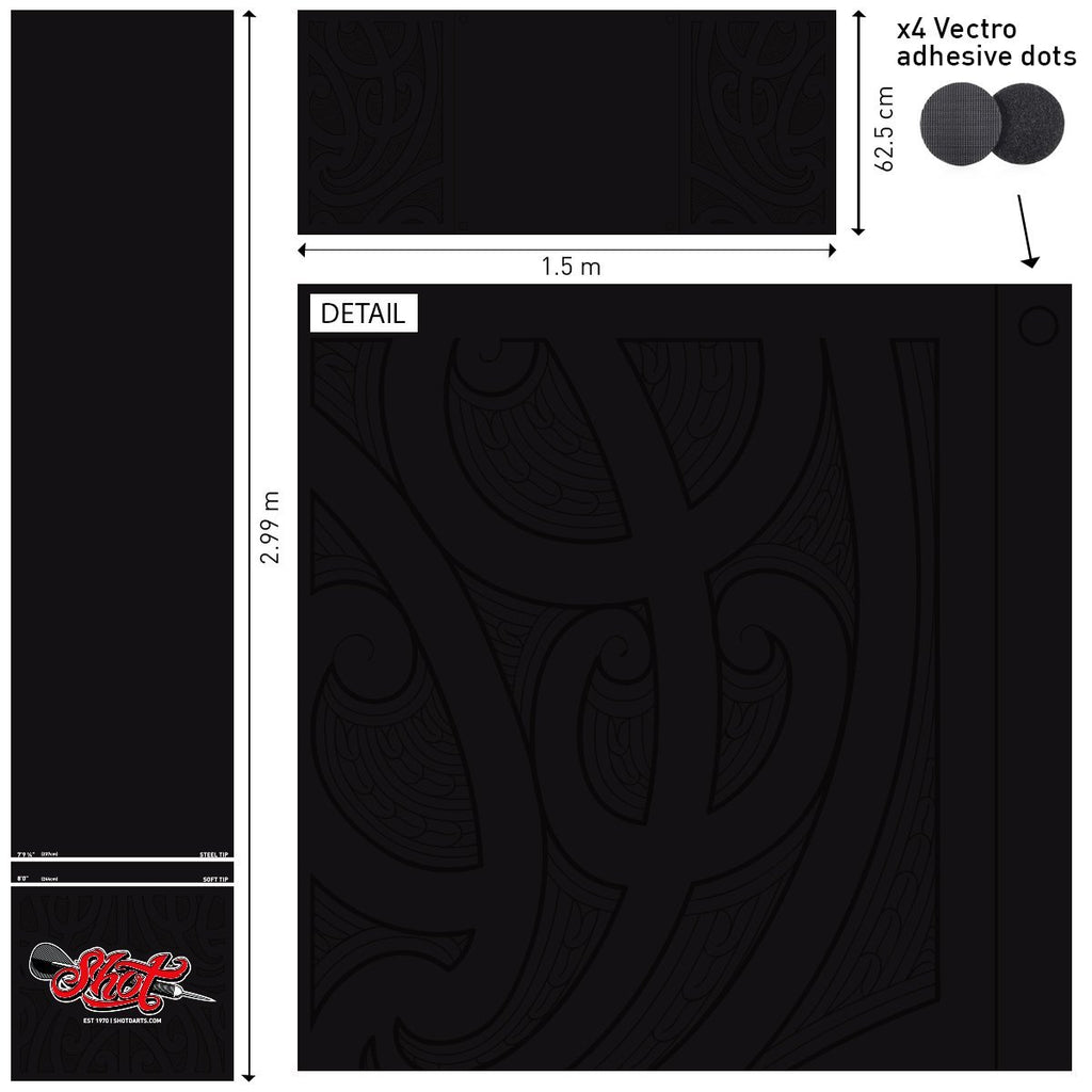 Shot Professional T Dart Mat - Shot Darts New Zealand