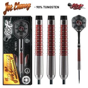 Shot Pro Series-Joe Chaney Steel Tip Dart Set-90% Tungsten Barrels-23gm - Shot Darts New Zealand