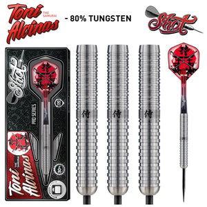 Shot Pro Series-Toni Alcinas Samurai Steel Tip Dart Set-80% Tungsten Barrels - Shot Darts New Zealand