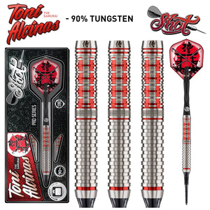 Shot Pro Series-Toni Alcinas Samurai Soft Tip Dart Set-90% Tungsten Barrels - Shot Darts New Zealand