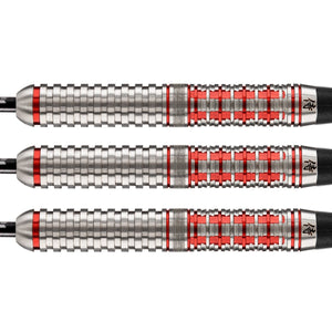 Shot Pro Series-Toni Alcinas Samurai Steel Tip Dart Set-90% Tungsten Barrels - Shot Darts New Zealand