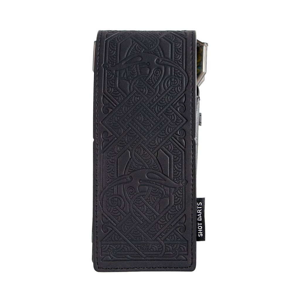 Insignia Dart Case-Viking-Black Embossed - Shot Darts New Zealand