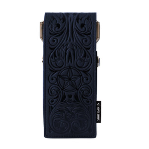 Insignia Darts Case-Wild Frontier-Blue with Black Embossing - Shot Darts New Zealand