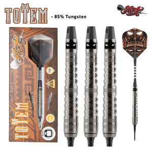 Totem 1 Series Soft Tip Dart Set-85% Tungsten Barrels - Shot Darts New Zealand