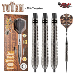 Totem 1 Series Steel Tip Dart Set-85% Tungsten Barrels - Shot Darts New Zealand