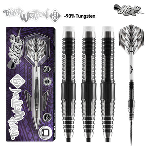 Tribal Weapon 5-Steel Tip Dart Set-90% Tungsten Barrels - Shot Darts