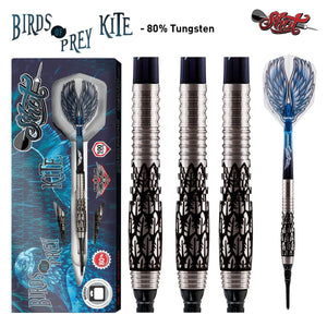 Birds of Prey Kite Soft Tip Dart Set-80% Tungsten Barrels - Shot Darts New Zealand