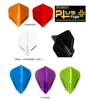 Robson Plus Flights-F Shape - Shot Darts