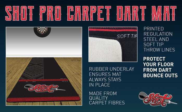 Shot Carpet Dart Mat