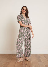 Load image into Gallery viewer, KEELY PALM PRINT JUMPSUIT PINK FLORAL