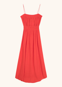 ALETTE WOVEN DRESS RED