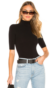 BALLET SHORT SLEEVE TURTLENECK BODYSUIT