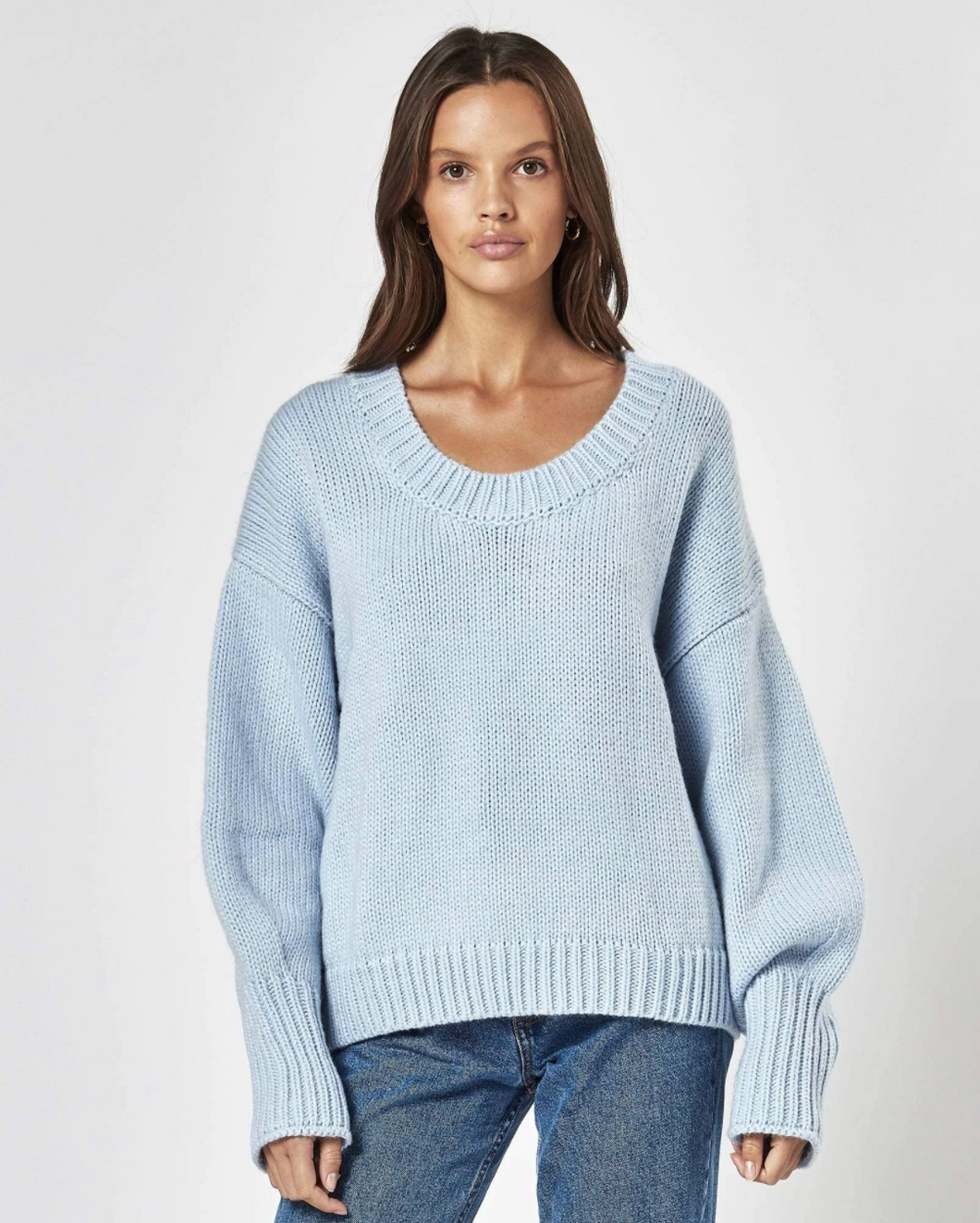 AUGUST KNIT SWEATER BABY BLUE