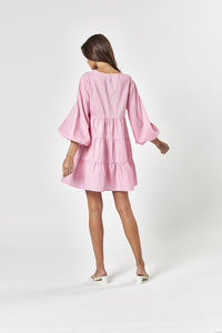 AGATHA MINI DRESS BUBBLEGUM