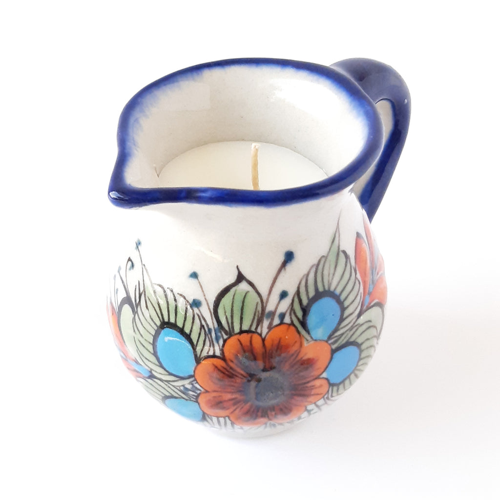 Ceramic-creamer-soy-wax-scented-candle-handcrafted-Achiote