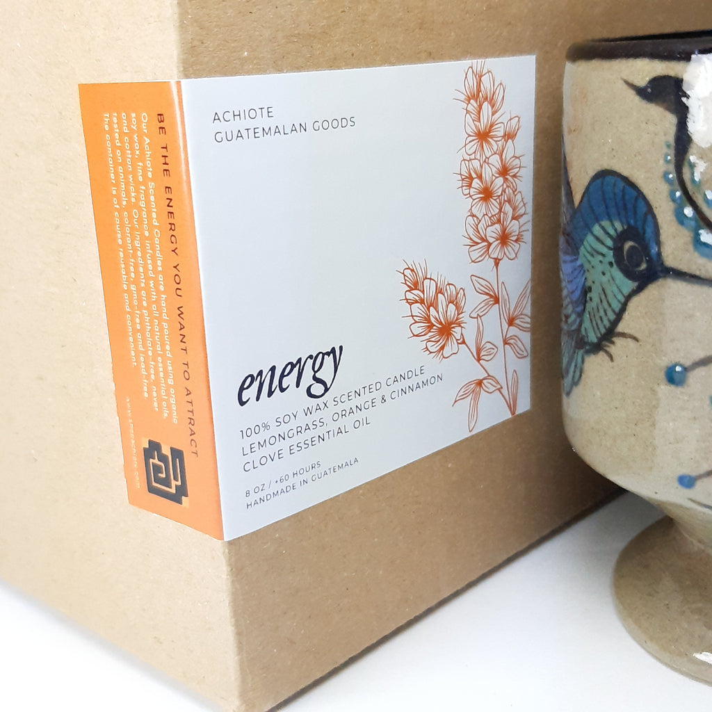 Ceramic-goblet-soy-wax-scented-candle-handcrafted-Achiote-Energy