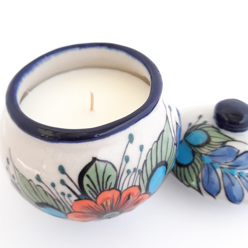 Sugar Bowl Handcrafted 100% Soy Wax Scented Candle Ceramic w/Essential Oils