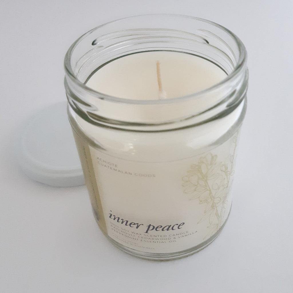 Soy-wax-scented-candle-glass-jar-Inner-Peace-Achiote