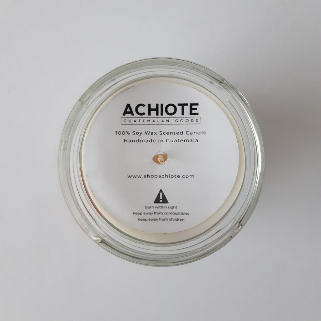 Soy-wax-scented-candle-glass-Achiote-Courage