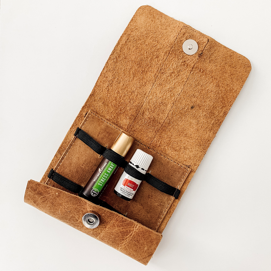 Essential-Oils-Organizer-Handmade-Open-With-Oils