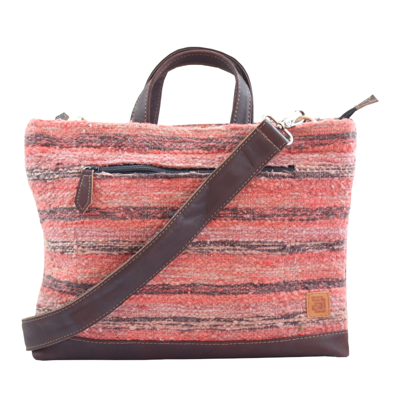 Coral Laptop Tote Bag