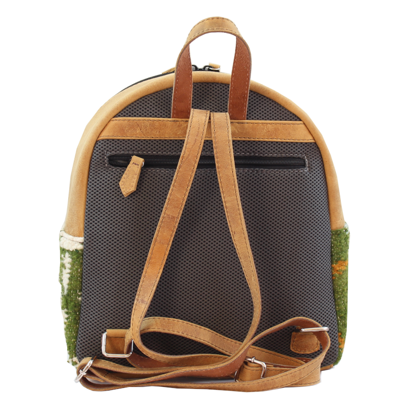 Mini Backpack - Wool & Leather Aire