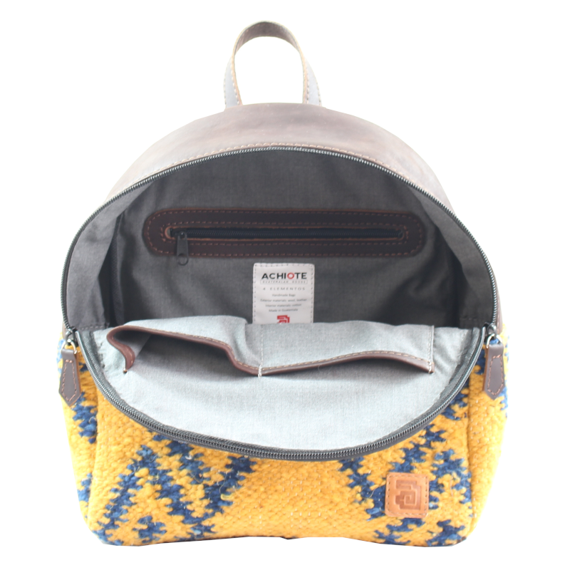 Mini Backpack - Wool & Leather Fuego