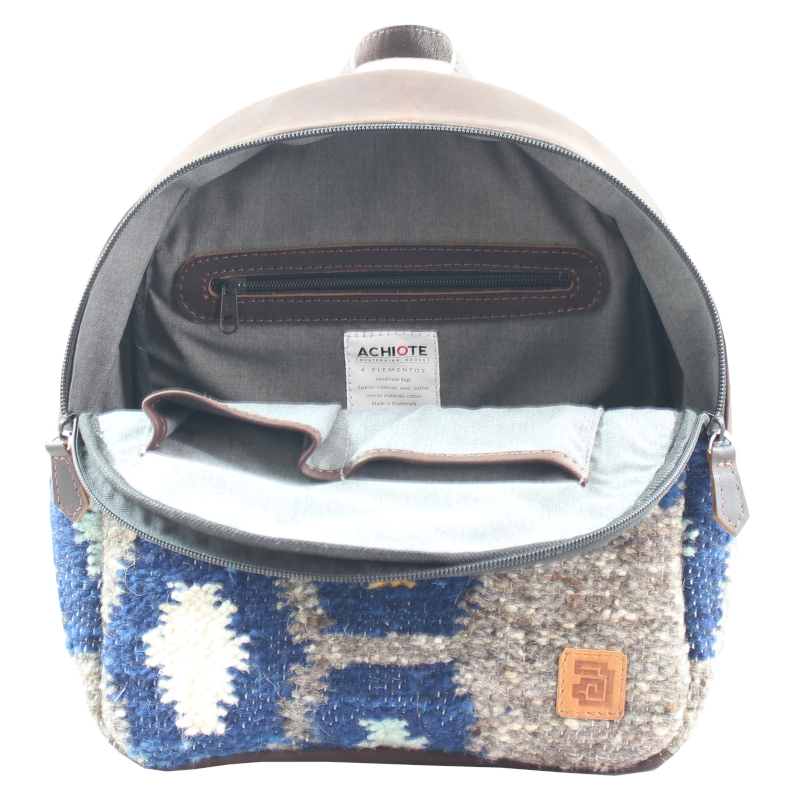 Mini Backpack - Wool & Leather Tierra