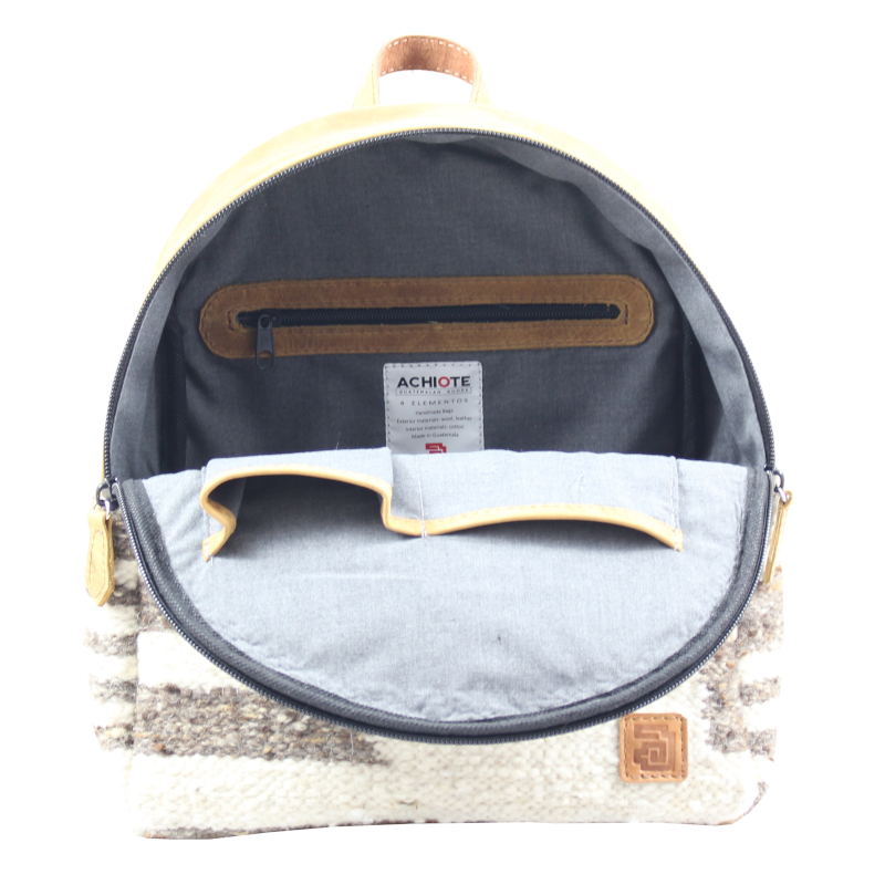 Mini Backpack - Wool & Leather Traditional Zaculeu
