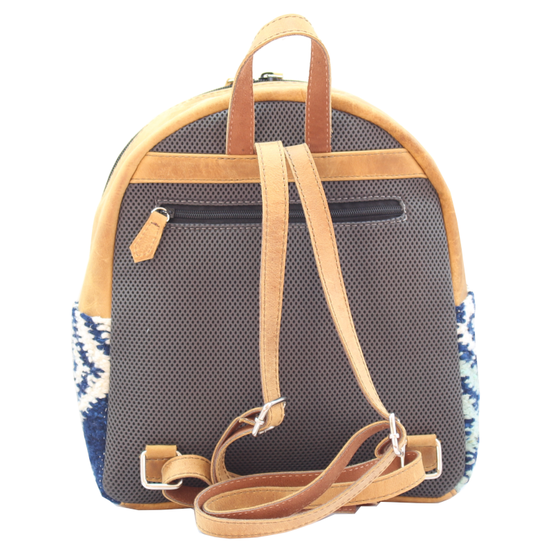 Mini Backpack - Wool & Leather Agua