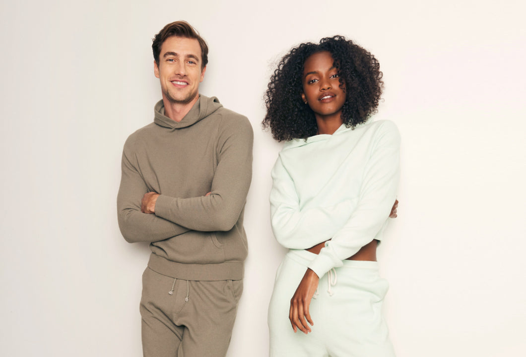 Models wearing cashmere products