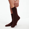 Signature Cashmere Socks Plum