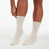 Signature Cashmere Socks White