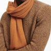 Knit Throw Butterscotch Brown